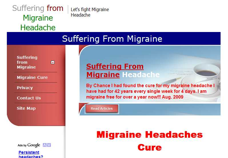 suffering from migraine